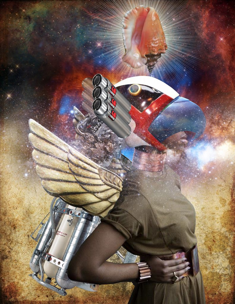 Afrofuturist digital collage