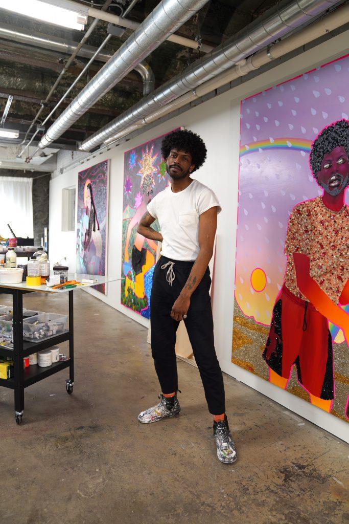 Devon Shimoyama in the studio